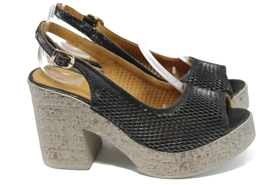 Sandale femei - piele - negri - SM111033