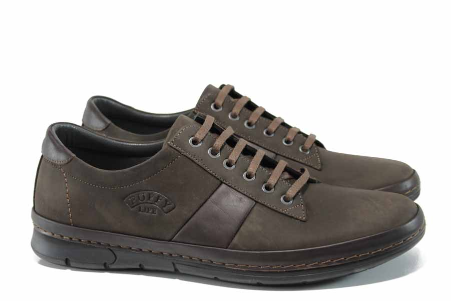 Pantofi pentru bărbați - piele - maro - SM111742