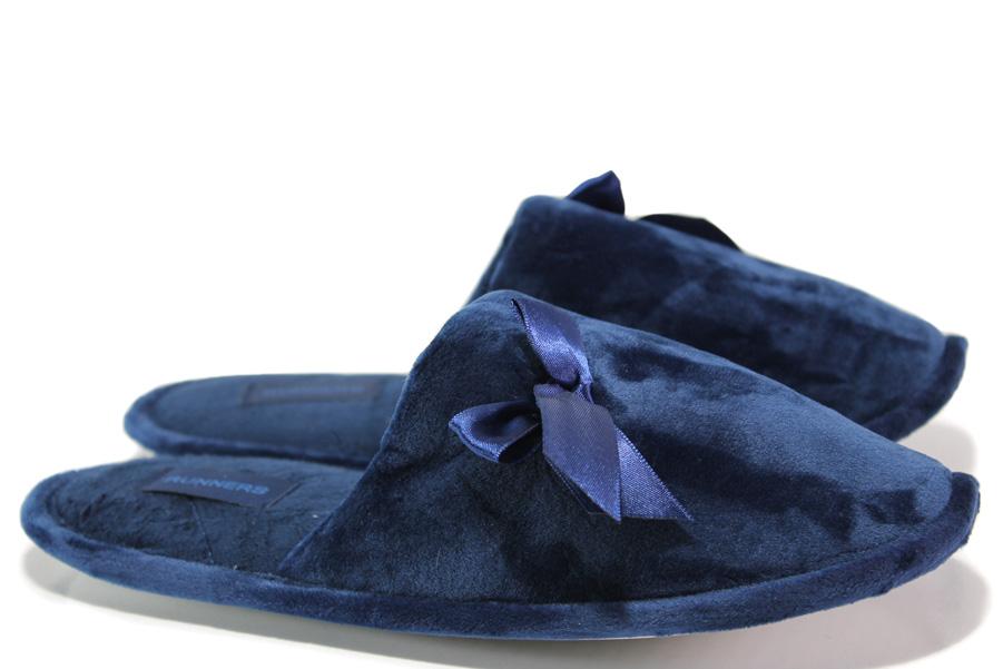 Papuci de dama - material textil de calitate înaltă - bleumarin - SM114555