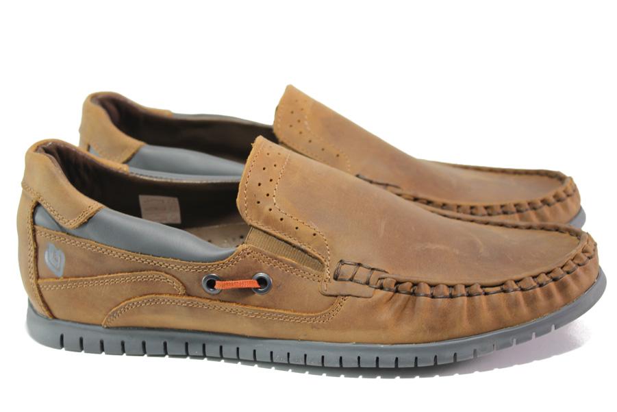 Pantofi pentru bărbați - piele - maro - SM113940