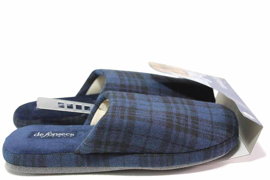 Papuci de casă - material textil de înaltă calitate - albastru - SM117022