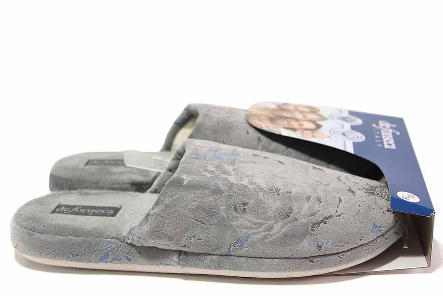 Papuci de casă - material textil de înaltă calitate - gri - SM117027