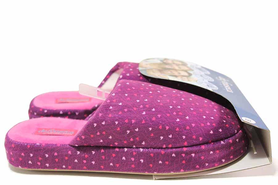 Papuci de casă - material textil de înaltă calitate - roz - SM117029