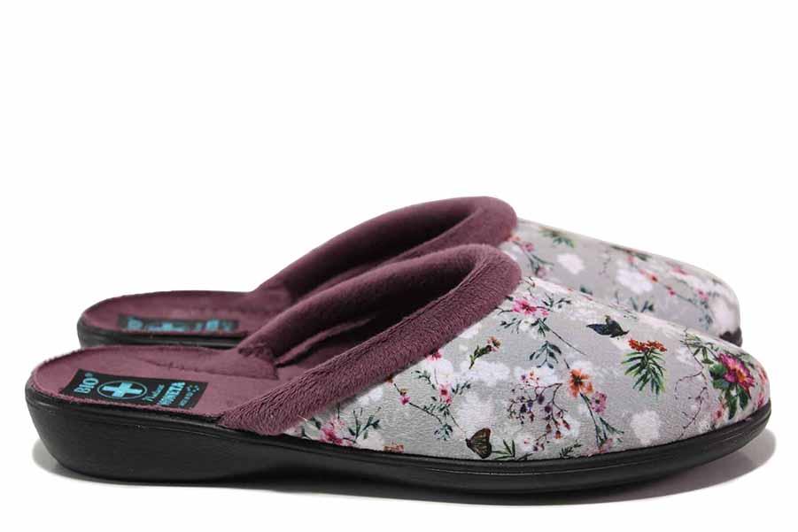 Papuci de casă - material textil de înaltă calitate - gri - SM119008